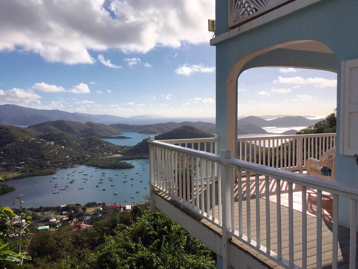 View of Coral Bay from the Deck