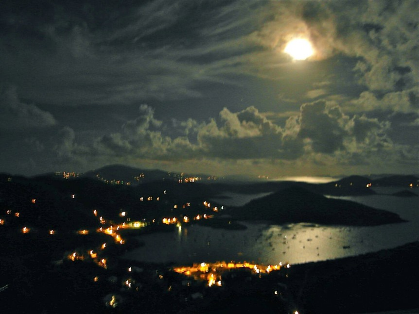 Full Moon Over Coral Bay