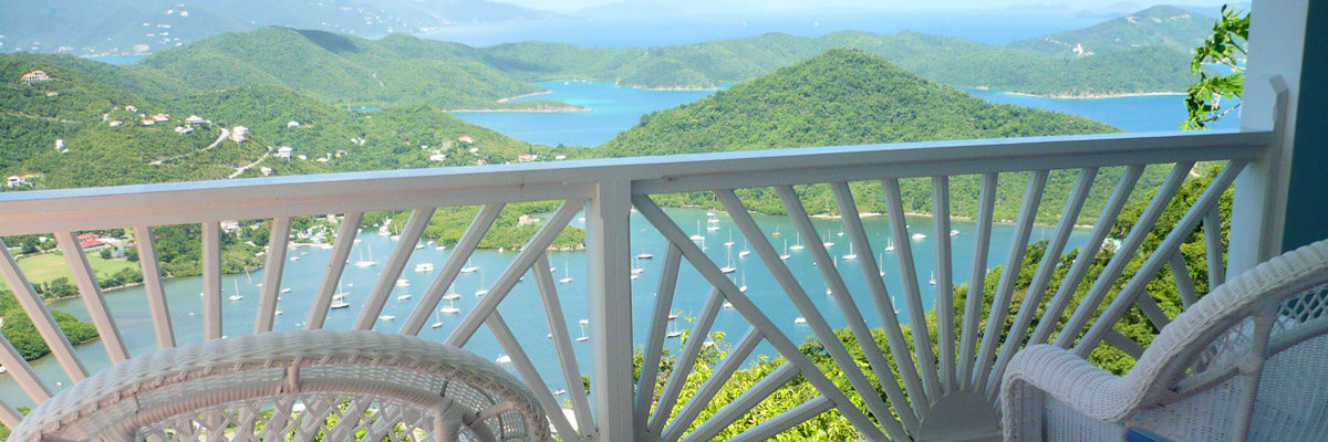 View of Coral Bay from the Villa
