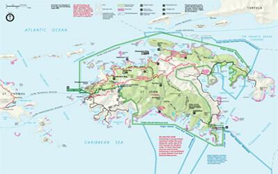 Map of St John USVI